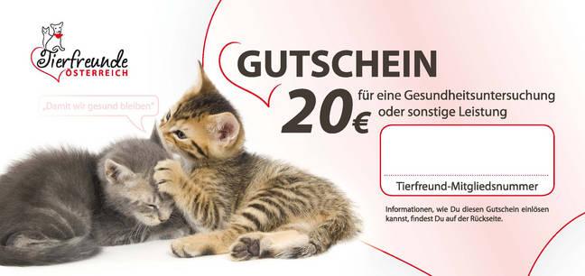 Tierarztgutschein der Tierfreunde Österreich
